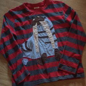 Mini Boden 9-1 walrus appliqué tee top shirt